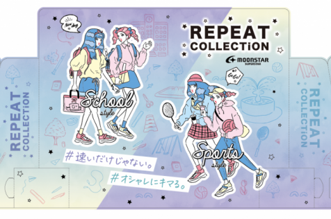 MOONSTAR「REPEAT COLLECTION」ディスプレイ
