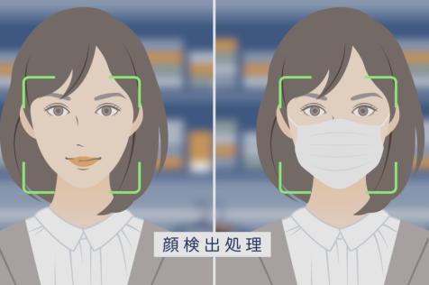 「NECの生体認証「Bio-IDiom」3分でわかる!顔認証」動画用イラスト