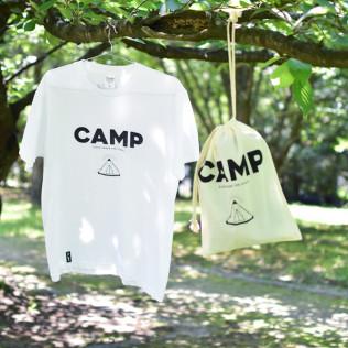 CAMP-T(Black print)✕CAMP巾着