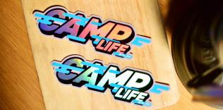 CAMP LIFE ホログラムステッカー