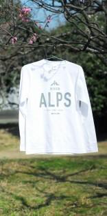 「ALPS」長袖Tシャツ(ホワイト)