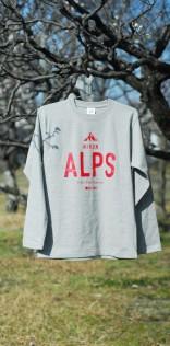 「ALPS」長袖Tシャツ(グレー)