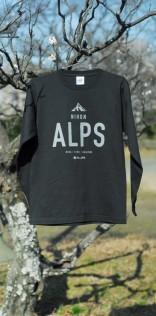 「ALPS」長袖Tシャツ(ブラック)